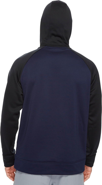 XXX-Large Midnight Navy //Black Under Armour Mens Fleece Color Block Hoodie