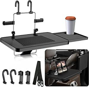 ToyBasics 2 in 1 Car Steering Wheel Tray with Extended Tray Car Tray for Eating, Office and Travel(Upgraded)