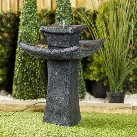 Fuente de Agua para jardín con diseño Oriental de Pagoda de Smart Garden: Amazon.es: Jardín