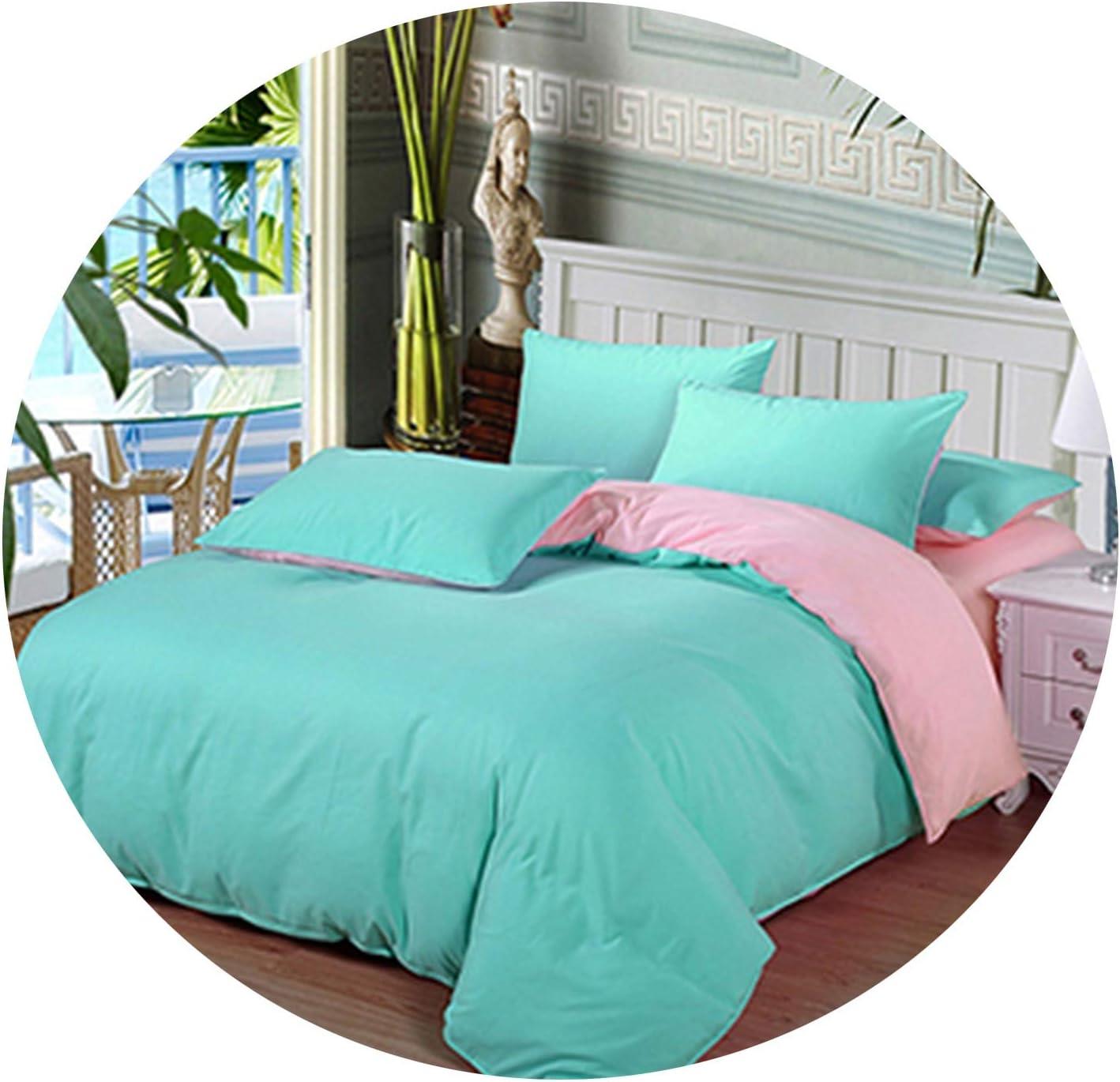 Victoria-show-bedspread-sets Bedding Solid Color Double-Fight Four-Piece Set Scrub Aloe Vera Silk,20,Twin 4Pcs Big Sheet