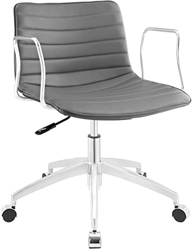 Modway Celerity Ribbed Faux Leather Swivel Office Chair