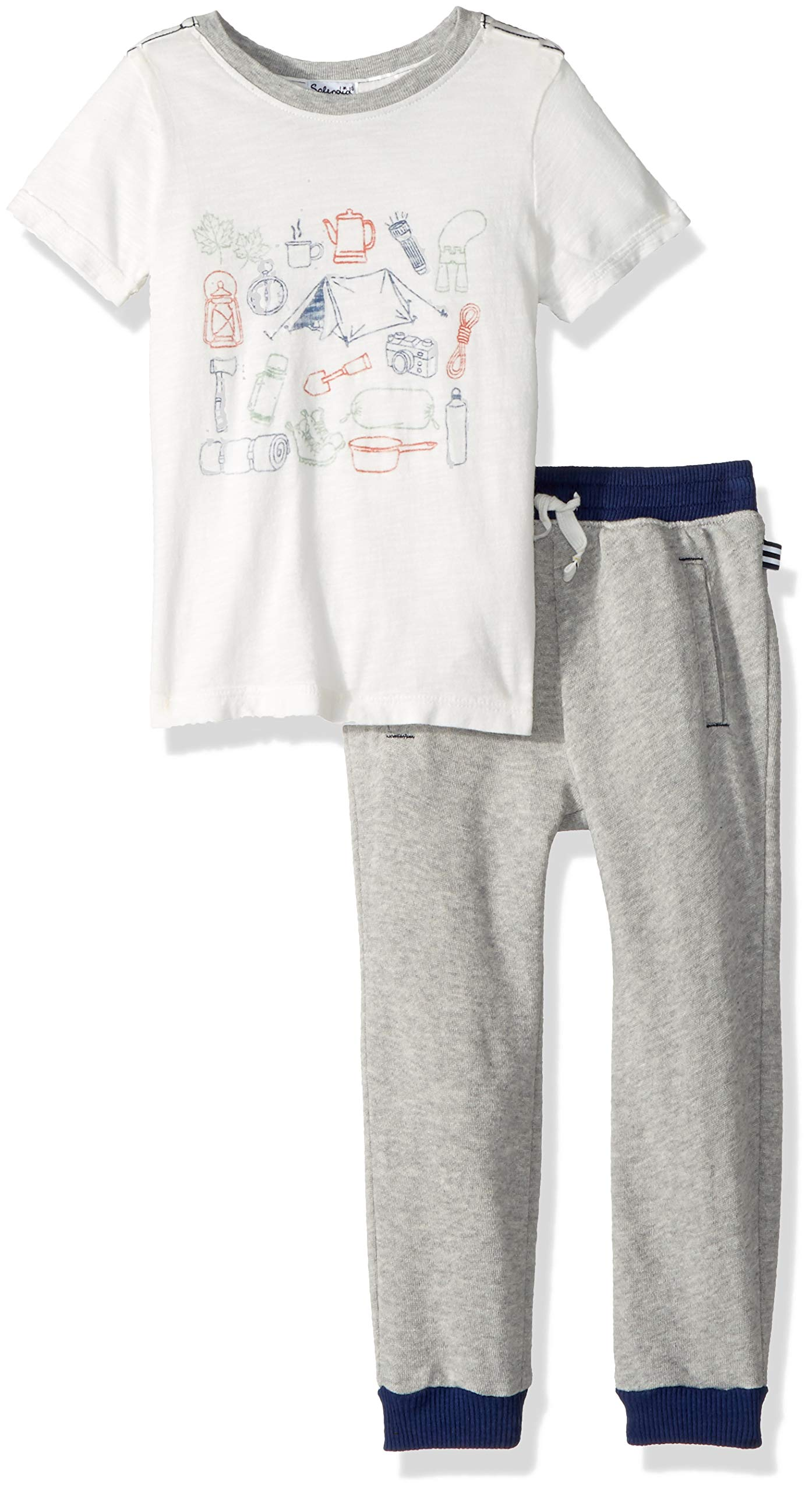 Splendid Boys' Toddler Screen tee Set, Full sail, 3T