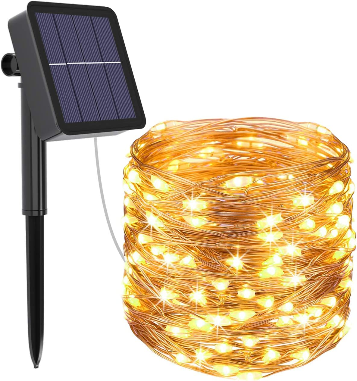 100 LED Solar Fairy String Light Copper Wire Outdoor Waterproof Garden Decor