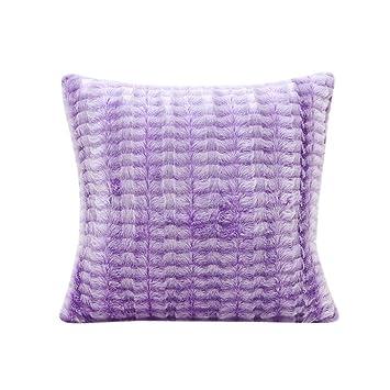 Purple Mandala Polar Lights Stripe Cotton Linen Pillow Case Sofa Cushion Cover