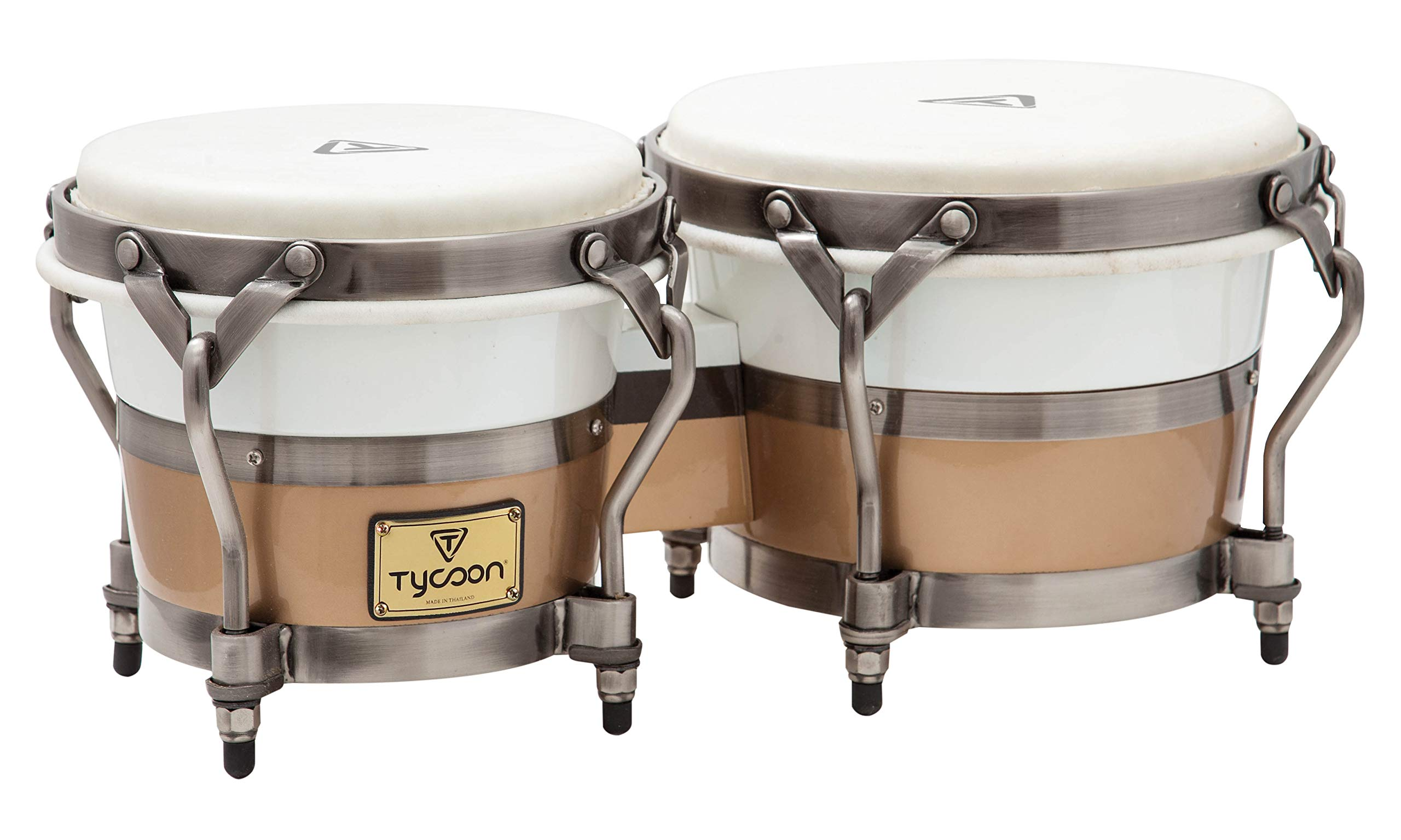 Tycoon Percussion TSBH-BCCCL 7 & 8 1/2 Signature Heritage Cafe Con Leche Series Bongos