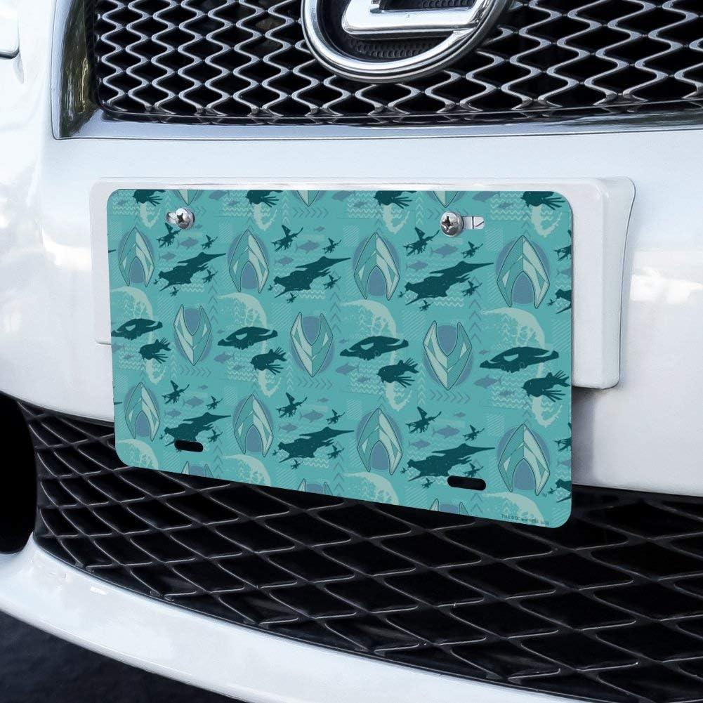 Aquaman Movie Fish and Ships Pattern Novelty Metal Vanity Tag License Plate