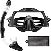 Tongtai Snorkeling Gear for Adults&Kids:Anti-Leak Snorkel Mask|Tempered Glass Diving Mask for Free Breathing|Anti-Fog…