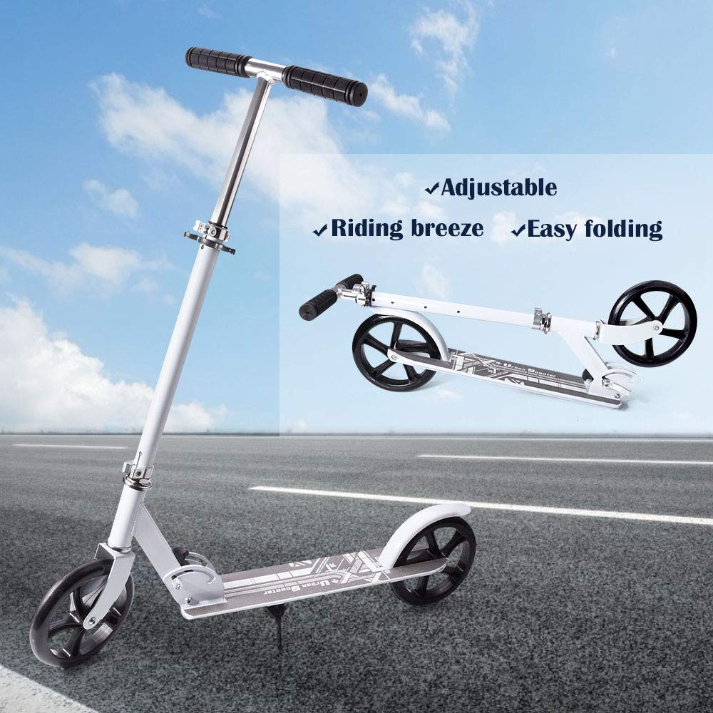 Scooter for Adult Youth Kids Easy Folding Kick Scooter with Shoulder Strap Commuter Scooter Support 220 lbs Suitable for 8 Years Old and Up by slendor