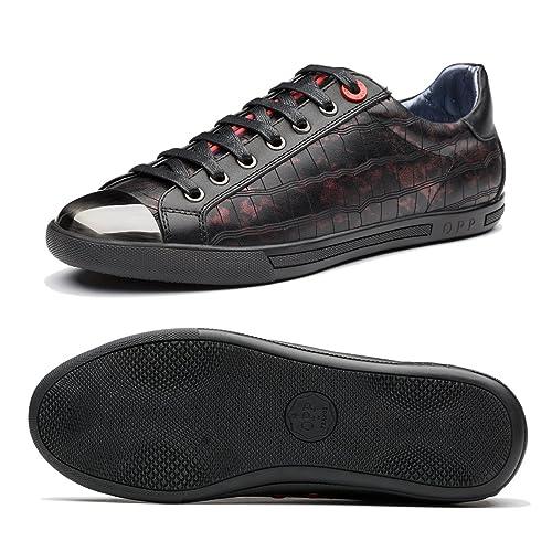 e91109aa47497 OPP Zapatillas deportivas de piel para hombre  Amazon.com.mx  Ropa ...