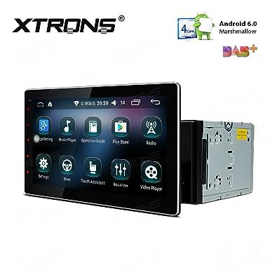 XTRONS 10.1 Inch Quad Core 16 G ROM Android 6.0 HD capacitiva Pantalla táctil estéreo de