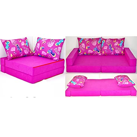 Kkh11 Children Kids Babies Mini Couch Sofa Bed Set 2 Pillows Pink