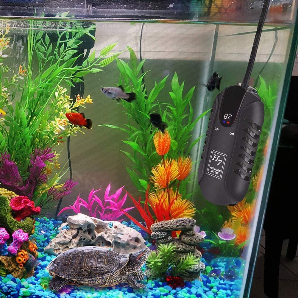 800W 600W SMYH Double-tube Submersible Aquarium Heater,Small Explosion-proof Quartz Fish Tank Heater,Waterproof 1000W