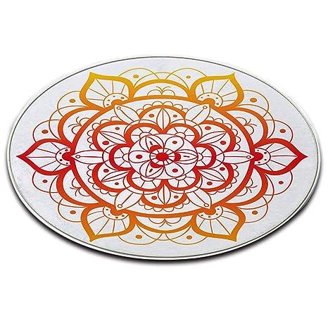 Lb Tappeto Tondo Sfondo Bianco Elegante Motivo A Mandala