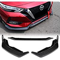 Stay Tuned Performance PU//626//PCF Carbon Fiber Print Front Bumper Body Kit Lip 3PCS Compaitble with 2016-2019 Civic