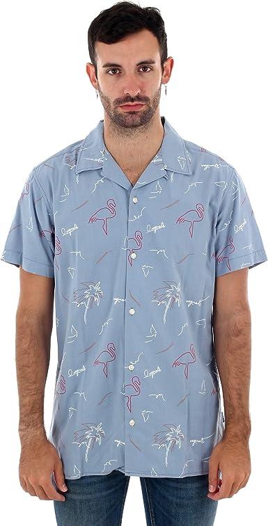 Camisa Jack&Jones Hombre Azul Claro 12150827 JORMIAMI Resort Shirt SS SH Blue Shadow: Amazon.es: Ropa y accesorios