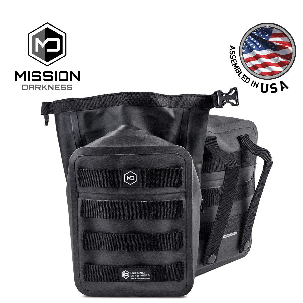 Mission Darkness Dry Shield MOLLE Faraday Pouch - Waterproof Dry Bag for Electronic Device Security & Transport/Signal Blocking/Anti-Tracking/EMP Shield/Data Privacy for Phones, Tablets, Etc. by Mission Darkness