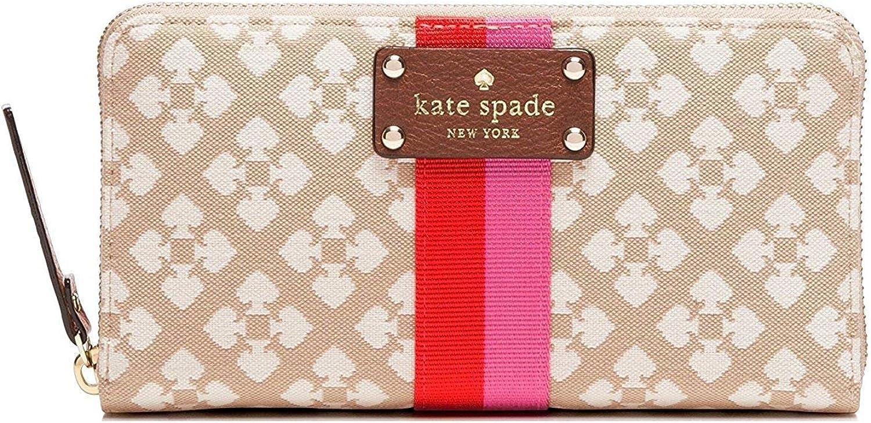Kate Spade Classic Spade Neda Zip Around Wallet Stucco