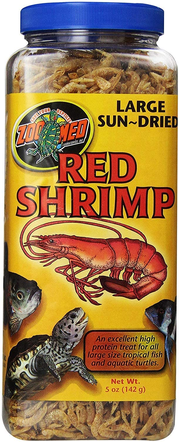 Zoo Med Large Sun-Dried Red Shrimp 5 oz - Pack of 3