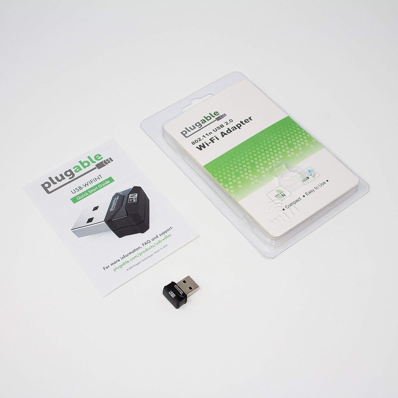 Realtek RTL8188EUS Chipset Plugable USB 2.0 Wireless N 802.11n 150 Mbps Nano WiFi Network Adapter Plug and Play for Windows.