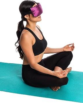 Yoga - lavanda y linaza aromaterapia almohada para los ojos ...