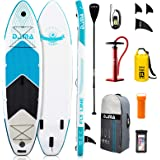 "DAMA 9'6""/10'6""/12'2"" Inflatable Stand Up Paddle Board, Yoga Board, Camera Seat, Floating Paddle, Hand Pump, Board Carrier, W"