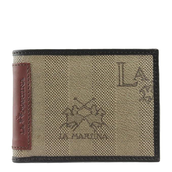 La Martina - Cartera para hombre Hombre Marrón marrón Talla única: Amazon.es: Ropa y accesorios