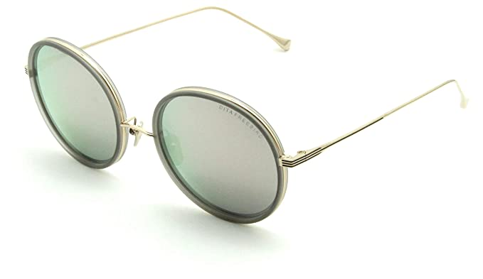 41b08e8aa65 Dita Freebird Titanium Sunglasses for Women 18K Gold Blue Mirror 21012-D   Amazon.co.uk  Clothing