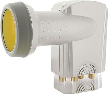SCHWAIGER -395- Quattro LNB con protección Solar   Digital   para multiswitch   Tapa de LNB Extremadamente Resistente al Calor   Uso con Antena ...