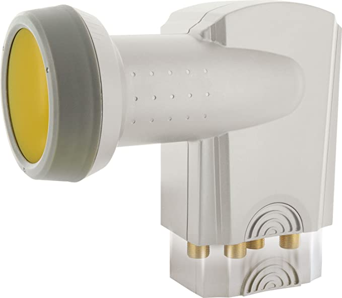 SCHWAIGER -395- Quattro LNB con protección Solar | Digital | para multiswitch | Tapa de LNB Extremadamente Resistente al Calor | Uso con Antena ...