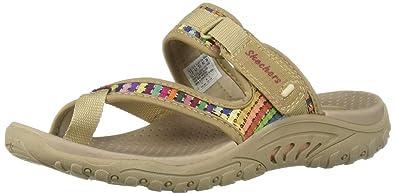 382d90bbd8fd Skechers Women s Reggae-MAD Swag-Toe Thong Woven Sandal