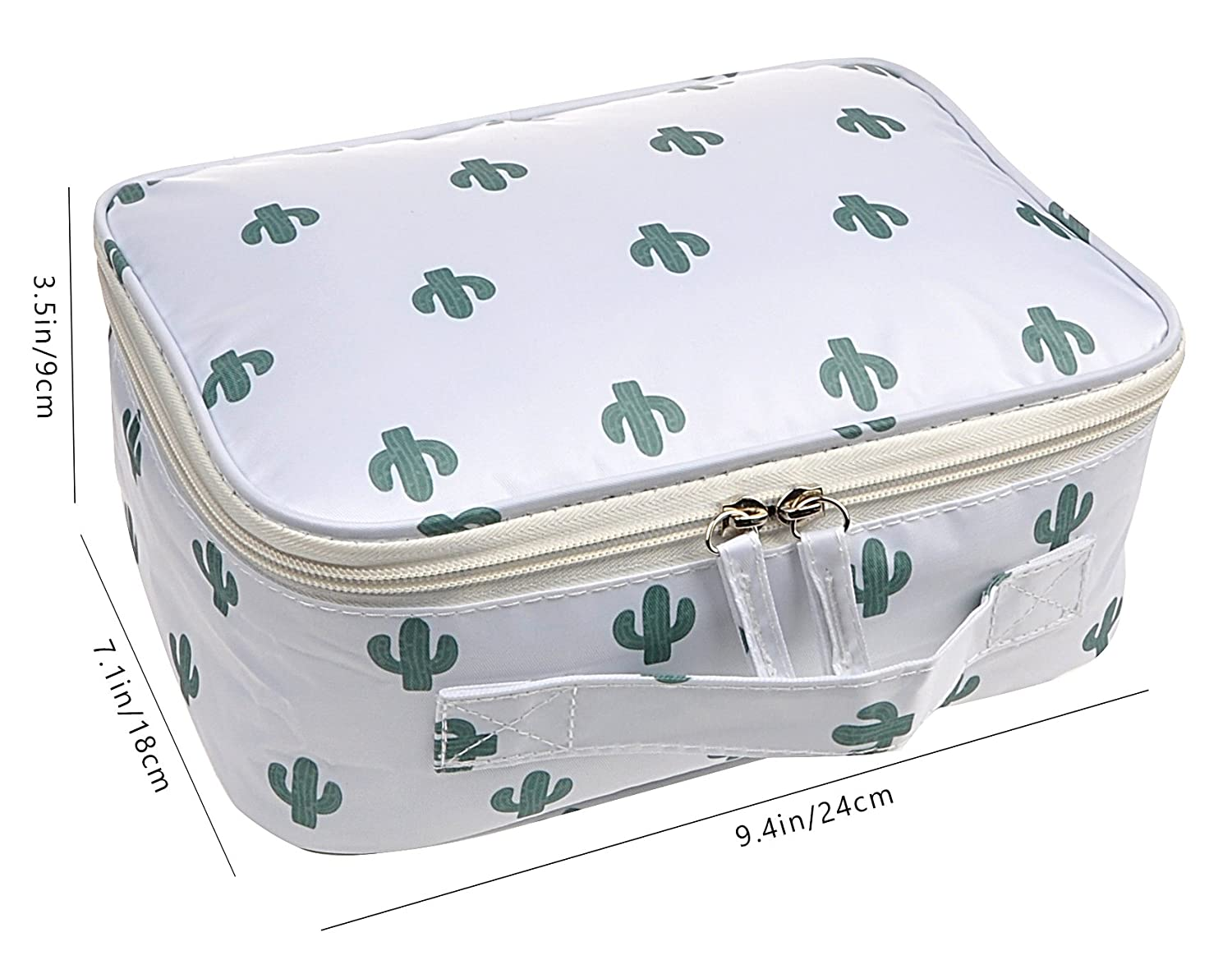 Travel Makeup Cosmetic Case,Portable Brushes Case Toiletry Bag Travel Kit Organizer Cosmetic Bag Cactus A
