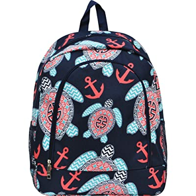 Sea Turtle Anchor Navy NGIL Large Canvas School Backpack | Kids' Backpacks