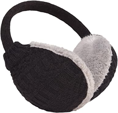 Animal Pure Gray Cat Photograph Picture Winter Earmuffs Ear Warmers Faux Fur Foldable Plush Outdoor Gift