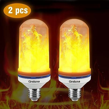 Bombilla LED de llama, E26/E27 con efecto de llama, 105 unidades de