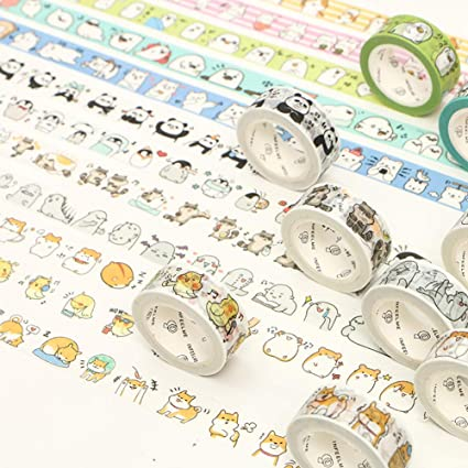tab page marking id190604 Cute masking tape Dogs kawaii paper goods scrapbooking stationery Cats or Rainbow washi
