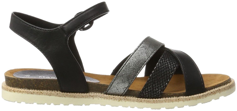 Marco Tozzi Damen 28410 Offene Sandalen mit Keilabsatz, Schwarz (Black Comb  098), 36 EU: Amazon.de: Schuhe & Handtaschen