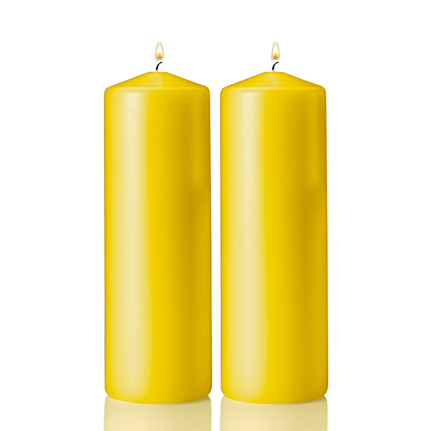 Light In the Dark Pillar Citronella Candle - Set of 2 Summer Scented Citronella Candles - 9 inch Tall, 3 inch Thick - Mosquito Bug Repellent for Indoor/Outdoor Use - Made in USA by Light In the Dark