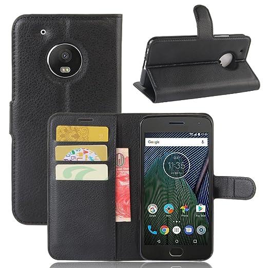 16 opinioni per Custodia Lenovo Motorola Moto G5 Plus- Custodia di Cuoio, Slot per Scheda e