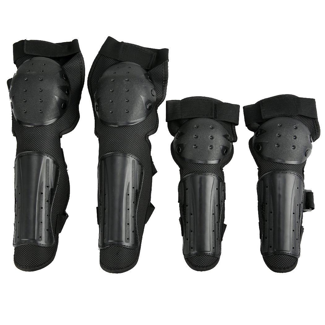 Zcare, kit per motocross da 4 pezzi, 2 coppie, ginocchiere e gomitiere, attrezzatura protettiva per le tibie e i gomiti, ideale per moto e fuoristrada