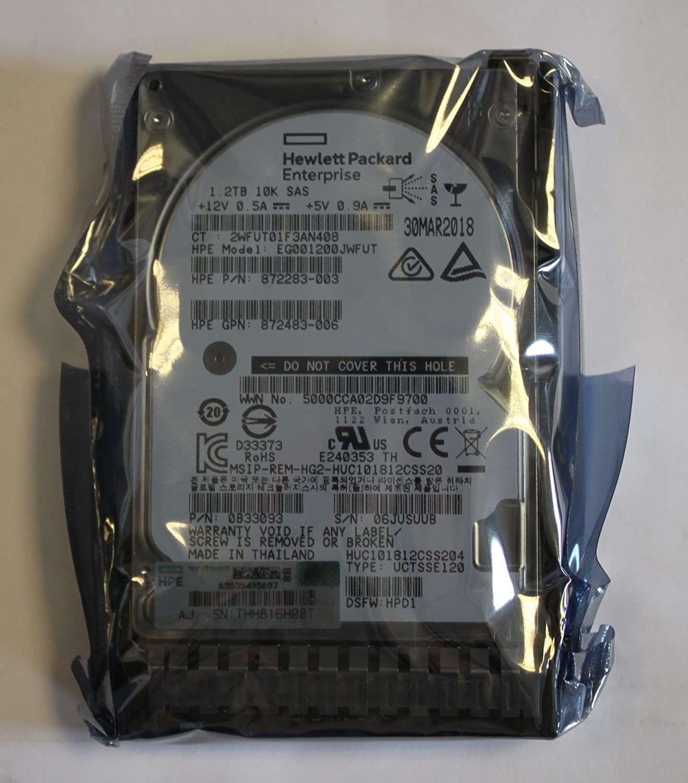 Hp 1.2Tb SAS 10K Sff Sc Ds HDD 872479-B21