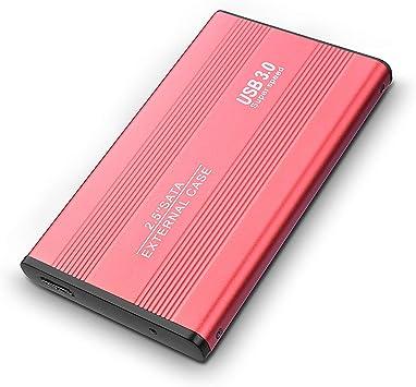 Red USB 3.0 Ultra Thin Portable 2TB External Hard Drive Storage 2.5 inch