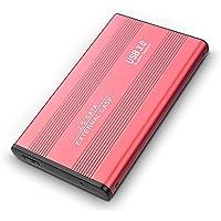 Larsco Disco Duro Externo portátil Elements - USB 3.0, Disco Duro de 2TB para PC, Xbox One, Playstation 4, Mac, PC, computadora de Escritorio y portátil (Rojo)