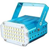 Luci Palco, GLISTENY  Mini Strobe Lampada 5050 LED,  Attivazione Vocale Proiettore Lampadina, Mini Palla Lampada Discoteca Luce, Per Club /Party /DJ Bar /KTV/Wedding Blu