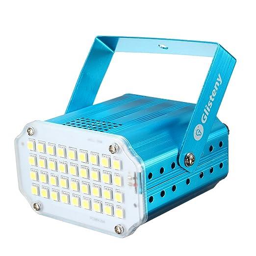 26 opinioni per Luci Palco, GLISTENY Mini Strobe Lampada 5050 LED, Attivazione Vocale Proiettore