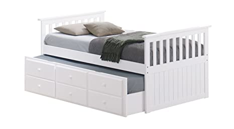 Super Broyhill Kids Marco Island Captains Bed With Trundle Bed And Drawers Twin White Twin Sized Mattress Not Included Bunk Bed Alternative Great Pdpeps Interior Chair Design Pdpepsorg