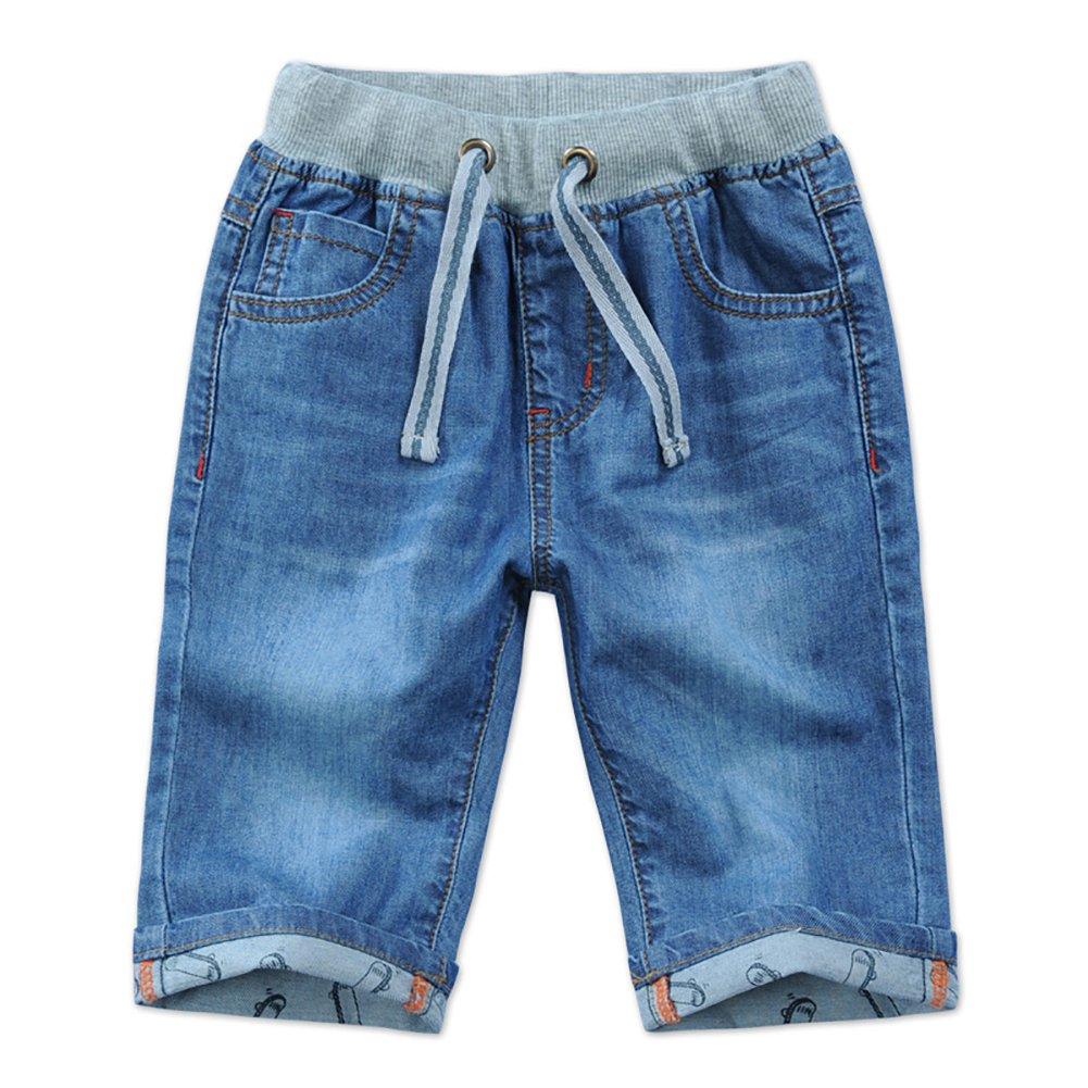 LISUEYNE Baby Boy Summer Casual Blue Jean Shorts Holey Ripped Size 155 Denim Shorts Short Jeans for Boys