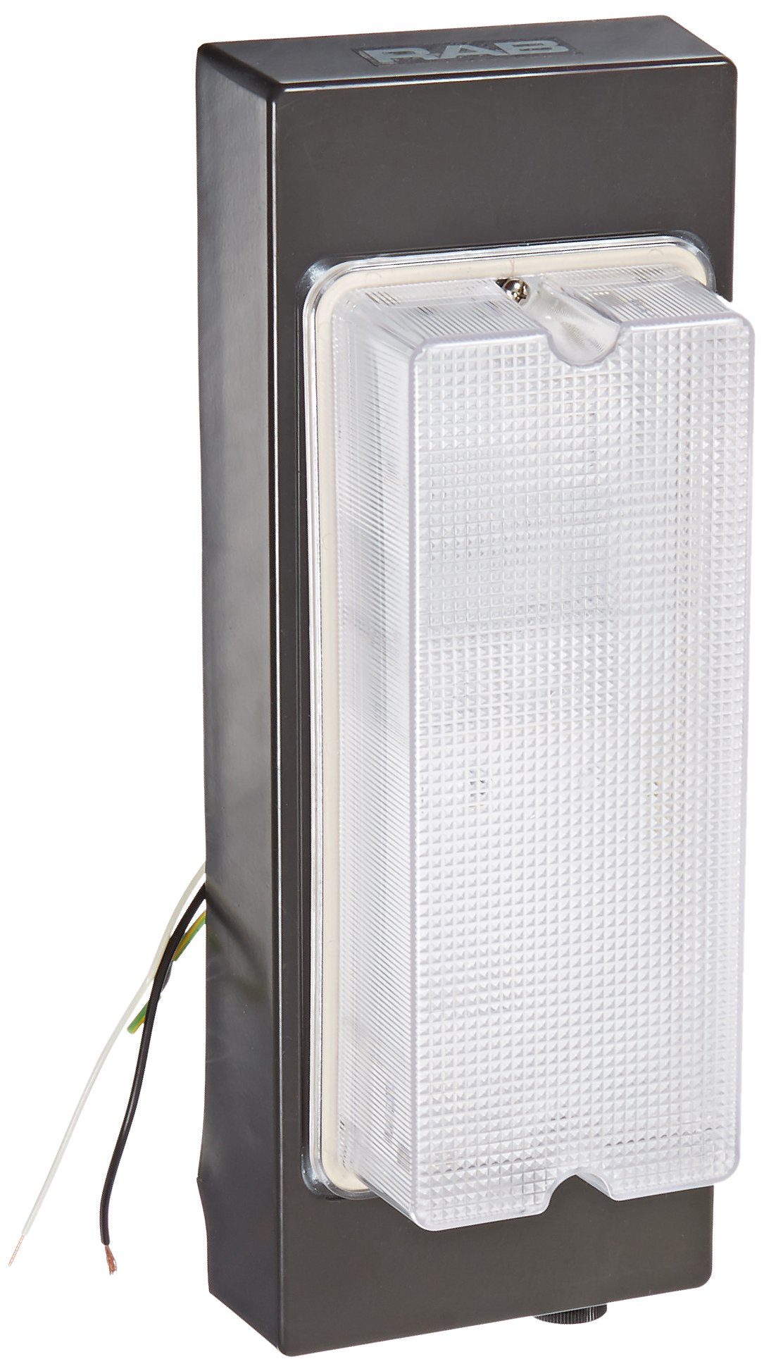 RAB Lighting VAN6F26/PC Vandalproof Van6 Compact Fluorescent Lamp, Twin Type, Aluminum, 26W Power, 1800 Lumens, 120V Button Photocell, Bronze Color