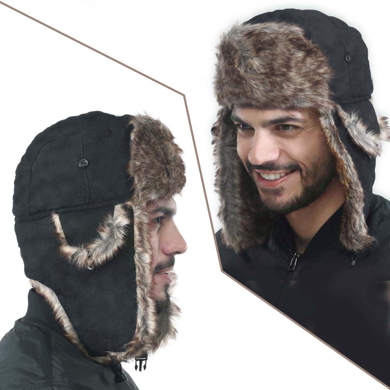 Yesurprise Trapper Warm Russian Trooper Fur Earflap Winter Skiing Hat Cap Women Men Windproof by Yesurprise (Image #5)