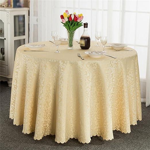 hoteles manteles, paño ronda mesa de comedor, restaurante Vector ...