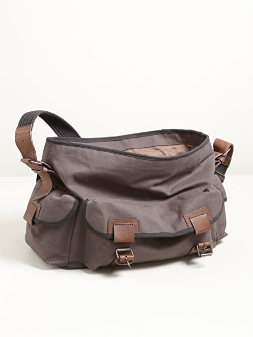 8573ffb930 Somewhere Besace Homme Coton/cuir Multipoches, allan - 2362956: Amazon.fr:  Vêtements et accessoires